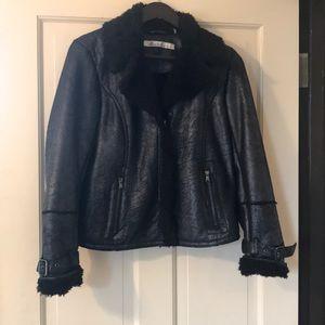 Kenneth Cole Faux Shearling black jacket
